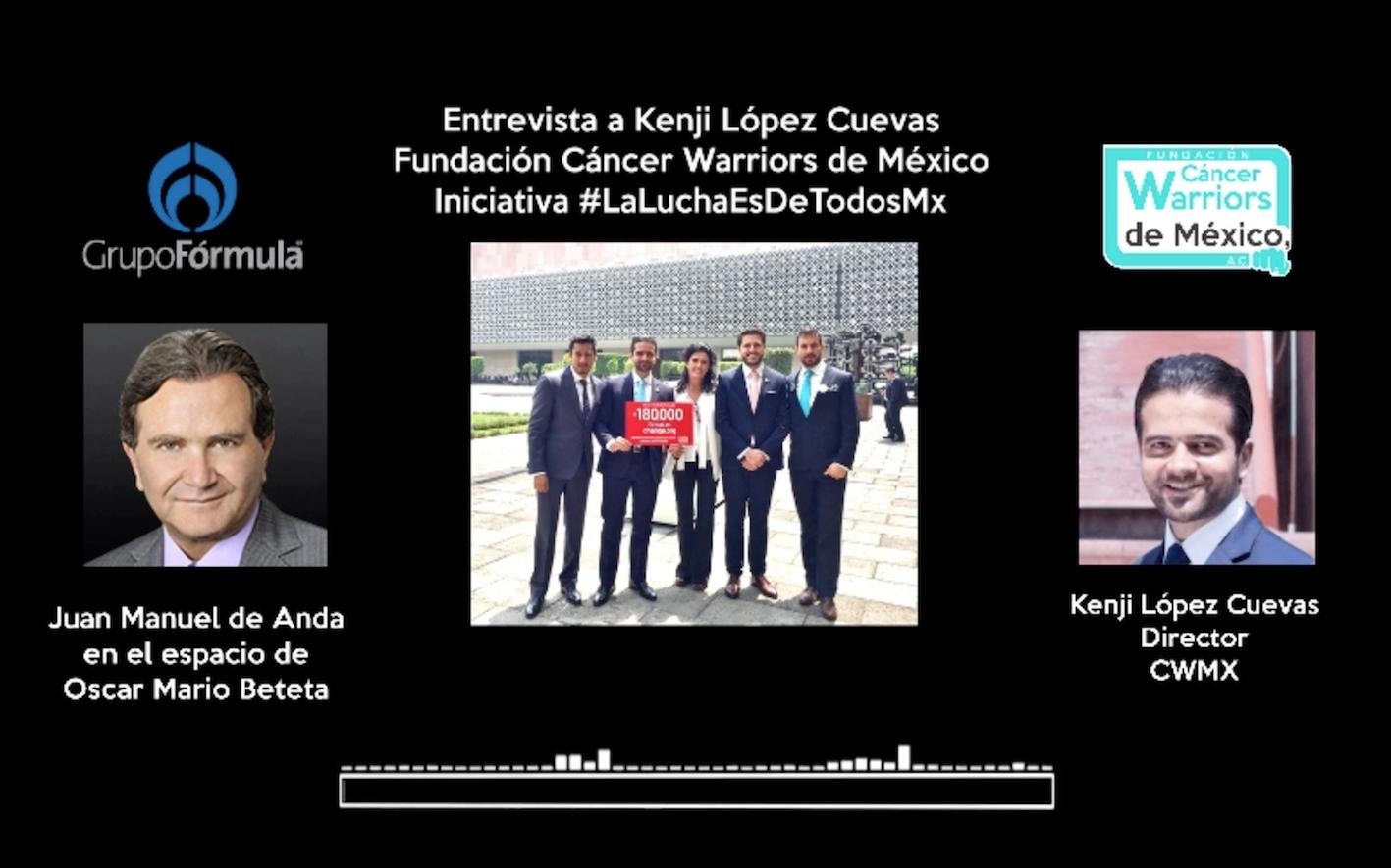 Entrevista Radio Formula Cáncer Warriors de México