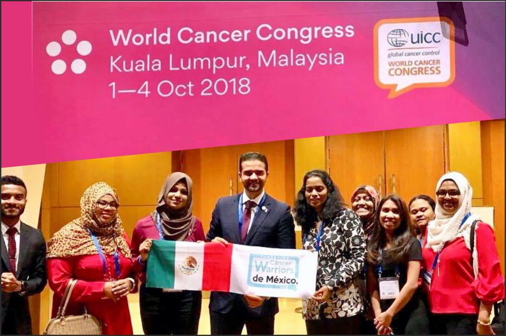 Participamos en el 5to. Congreso Mundial contra el Cáncer 2018, organizado por la UICC en Kuala Lumpur Malasia del 1 al 4 de octubre